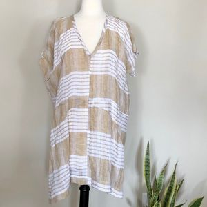 ANTHROPOLOGIE Akemi + Kim Linen Tunic
